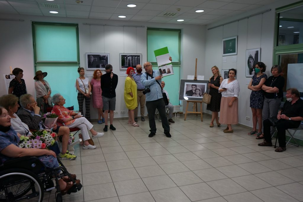 Curator tour at the exhibition opening at JCC Krakow